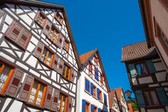 Historical half-timbered houses in Schiltach Stock Photo