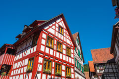 Historical half-timbered houses in Schiltach Royalty Free Stock Images