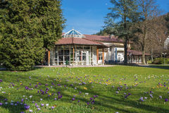 The historical health resort house with pavilion in Bad Herrenalb Royalty Free Stock Photo