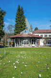 The historical health resort house with pavilion in Bad Herrenalb Royalty Free Stock Photos