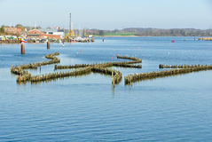 Historical herring weir. In the Schlei at Kappeln Royalty Free Stock Image