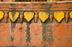 Historical hindu temple wall background Stock Images