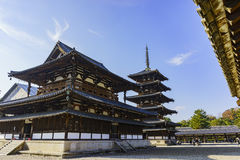The historical Horyu Ji. At Nara, Japan royalty free stock photos