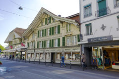 Historical house in Interlaken Stock Photo