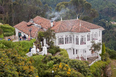 Historical House Monserrate Hill Bogota Stock Image