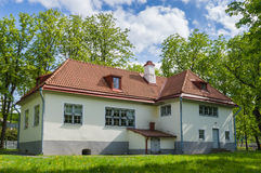 Historical house of Peter the Great at sunny Kadriorg park Royalty Free Stock Photo