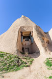 Historical house in volcanic rock, Cappadocia, Turkey Royalty Free Stock Photo