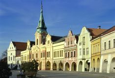 Historical houses. A square with historical houses Royalty Free Stock Images