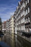 Historical Houses in Amsterdam Royalty Free Stock Images