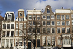 Historical houses in Amsterdam Stock Images