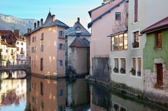 Historical houses of Annecy Stock Photography