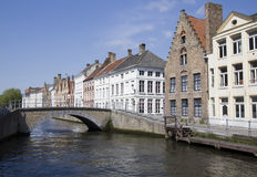 Historical Houses in Bruges, Belgium Royalty Free Stock Photo