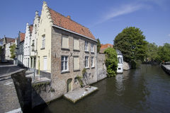 Historical Houses in Bruges, Belgium Royalty Free Stock Photography