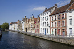 Historical Houses in Bruges, Belgium Royalty Free Stock Photos
