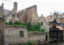 Historical Houses Bruges Belgium Royalty Free Stock Photo
