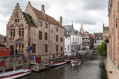 Historical Houses Bruges Belgium Royalty Free Stock Images