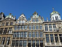 Historical houses in Brussels in Belgium Stock Photography