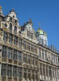Historical houses in Brussels opposite a blue sky Royalty Free Stock Images