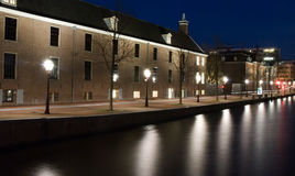Historical houses. At the canal Royalty Free Stock Photos
