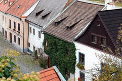 Historical Houses in Cesky Krumlov Stock Photos