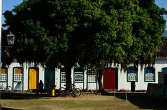Historical houses. Located at Paraty city, Rio de Janeiro Estate, Brazil Royalty Free Stock Photo