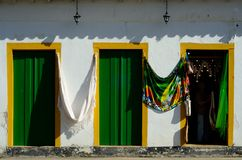Historical houses. Located at Paraty city, Rio de Janeiro Estate, Brazil Royalty Free Stock Photography