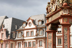Historical houses of Mainz Stock Image