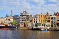 Historical houses in old Haarlem, Holland Stock Photo