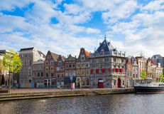 Historical houses in old Haarlem, Holland Royalty Free Stock Photos