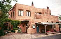 Historical houses of Santa Fe, New Mexico Stock Photo
