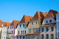 Historical houses of steyr austria. Historical main square of steyr austria Stock Photography