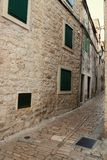 Historical houses. Of stone in Vodice stock image