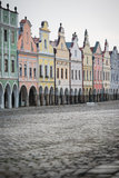 Historical houses in Telc, Czech Republic Stock Image