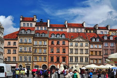 Historical houses Warsaw Royalty Free Stock Photography