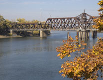 Historical I Street Bridge in Sacramento, California Stock Image