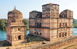 Historical indian sites over the river Stock Photos