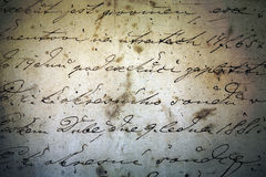 Historical ink manuscript Stock Image