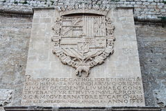 Historical inscription in Dalt Vila of Ibiza Royalty Free Stock Images
