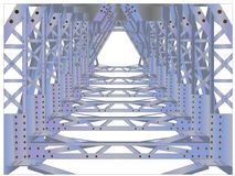 Historical, iron, riveted, railway bridge Stock Photography