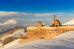 Historical Ishak Pasha Palace Turkey. Ishak Pasha Palace and historic landscapes, winter ground Stock Photos