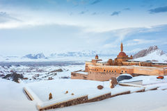 Historical Ishak Pasha Palace Turkey. Ishak Pasha Palace and historic landscapes, winter ground Stock Photography