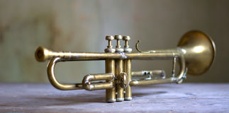 Historical jazz trumpet. Music is essential for life Royalty Free Stock Photography
