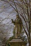 Historical Jesus christ statue in Glasnevin cemetery, Dublin stock photography
