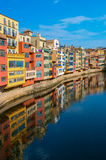 Historical jewish quarter in Girona, Spain. Stock Photos