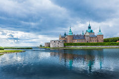 Historical Kalmar castle in Sweden Scandinavia Europe. Landmark. Historical building. Kalmar castle in Sweden Scandinavia Europe. Landmark and tourism Stock Photo