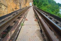 Historical Kanchanaburi rail. Thailand Asia Stock Photos