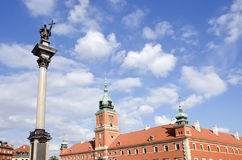 Historical kings palace towers  in Warsaw Stock Image