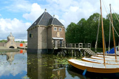 Historical 'Kruithuis' in Delft, Holland Stock Photography