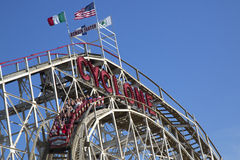 Historical landmark Cyclone roller coaster in the Coney Island section of Brooklyn Stock Photo