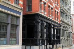 Historical landmark of famous Pot Au Feu restaurant,Providence,Rhode Island,Fall,2013 royalty free stock photo